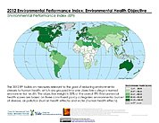 Map: Environmental Health, EPI 2012