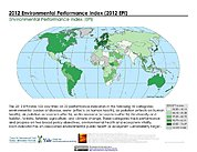Map: 2012 Environmental Performance Index