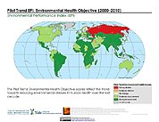 Map: Environmental Health, Pilot Trend EPI (2000-2010)