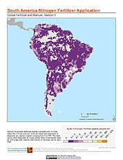 Map: Nitrogen Fertilizer Application: South America