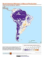 Map: Nitrogen in Manure Production: South America