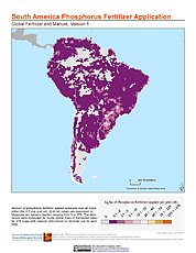 Map: Phosphorus Fertilizer Application: South America