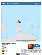 Map: Aruba: Population Density, 2000
