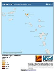 Map: Anguilla (U.K.): Population Density, 2000