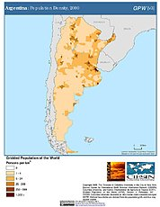 Map: Argentian: Population Density, 2000