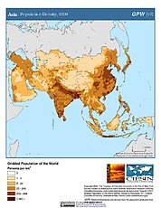 Map: Asia: Population Density, 2000
