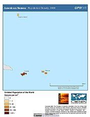 Map: American Samoa: Population Density, 2000
