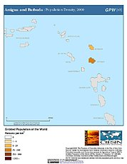 Map: Antigua and Barbuda: Population Density, 2000