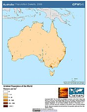 Map: Australia: Population Density, 2000