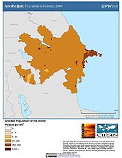 Map: Azerbaijan: Population Density, 2000