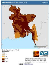 Map: Bangladesh: Population Density, 2000