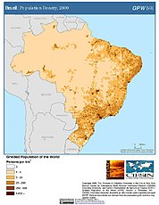 Map: Brazil: Population Density, 2000
