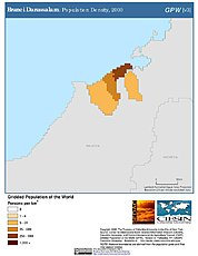 Map: Population Density (2000): Brunei Darussalam