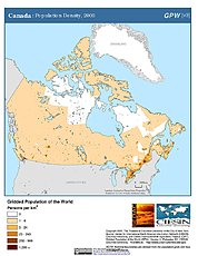 Map: Population Density (2000): Canada