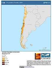Map: Population Density (2000): Chile