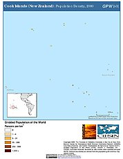 Map: Population Density (2000): Cook Islands