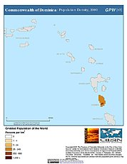 Map: Population Density (2000): Dominica