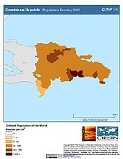 Map: Population Density (2000): Dominican Republic
