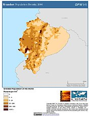 Map: Population Density (2000): Ecuador