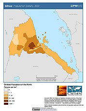 Map: Population Density (2000): Eritrea