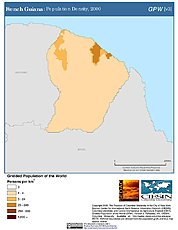 Map: Population Density (2000): French Guiana
