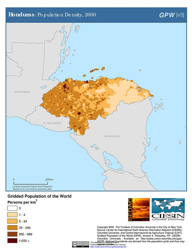 Columbia Mexico Map.Maps Gridded Population Of The World Gpw V3 Sedac