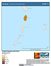 Map: Population Density (2000): St. Lucia