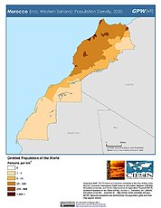 Map: Population Density (2000): Morocco