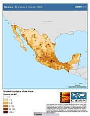 Map: Population Density (2000): Mexico