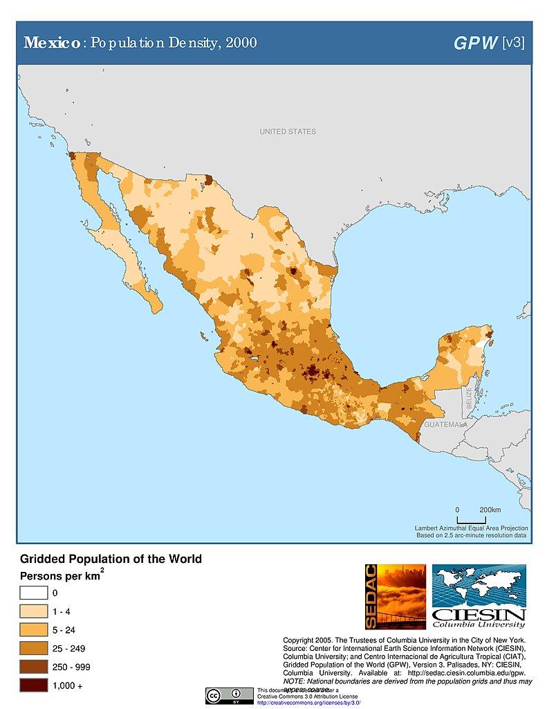 Maps Population Density Grid v3 SEDAC