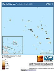 Map: Population Density (2000): Marshall Islands