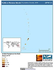 Map: Population Density (2000): Northern Mariana Islands