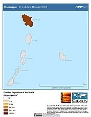 Map: Population Density (2000): Martinique