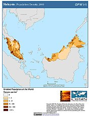 Map: Population Density (2000): Malaysia