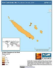 Map: Population Density (2000): New Caledonia