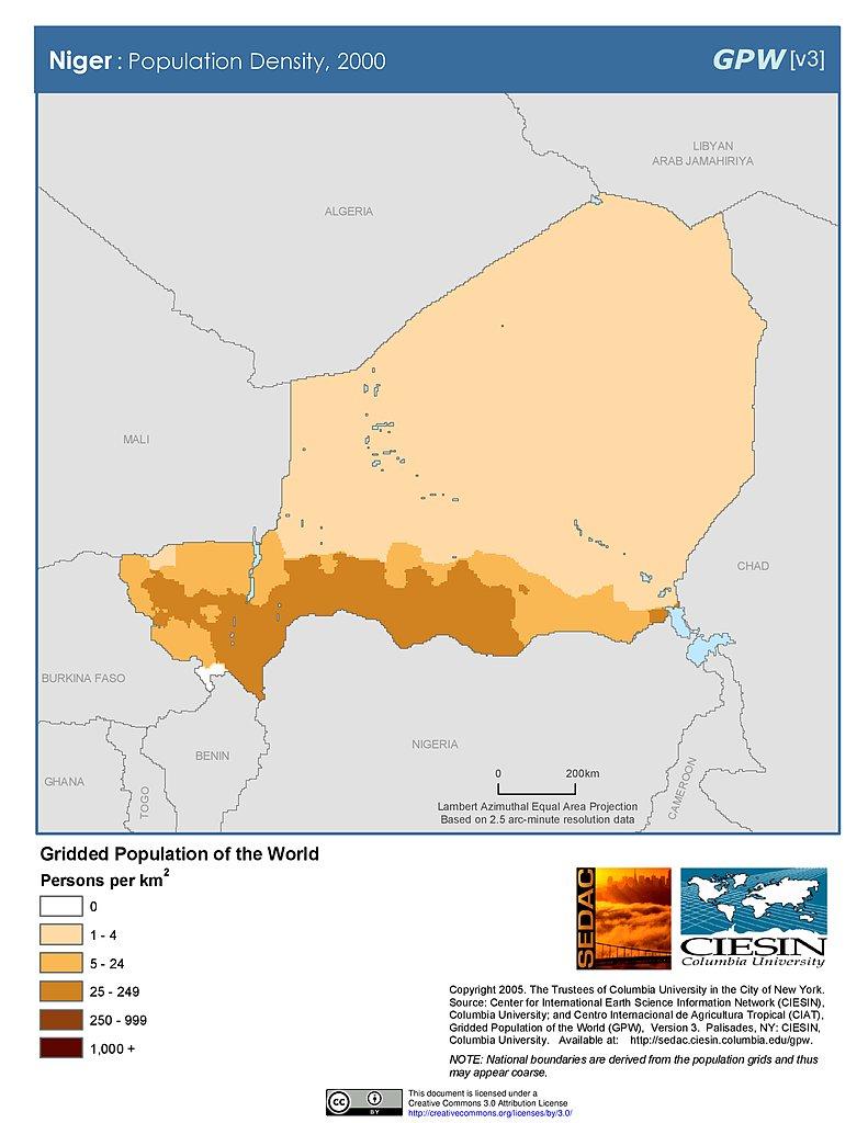 Map Gallery SEDAC - Niger map hd pdf