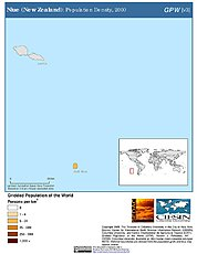 Map: Population Density (2000): Niue