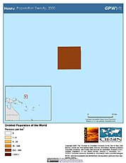 Map: Population Density (2000): Nauru