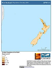 Map: Population Density (2000): New Zealand