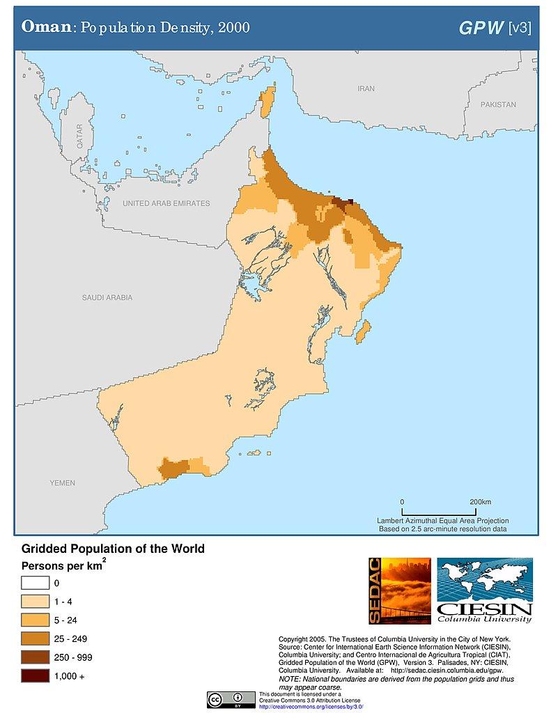 Maps » Population Density Grid, v3: | SEDAC