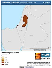 Map: Population Density (2000): West Bank & Gaza Strip