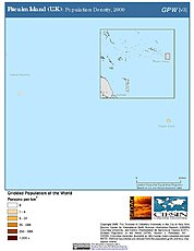Map: Population Density (2000): Pitcairn