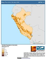 Map: Population Density (2000): Peru