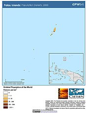 Map: Population Density (2000): Palau