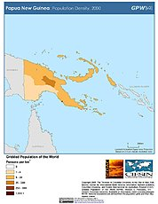 Map: Population Density (2000): Papua New Guinea