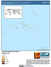 Map: Population Density (2000): French Polynesia