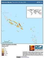 Map: Population Density (2000): Solomon Islands