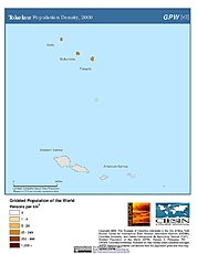 Map: Population Density (2000): Tokelau