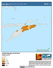 Map: Population Density (2000): East Timor