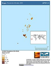 Map: Population Density (2000): Tonga